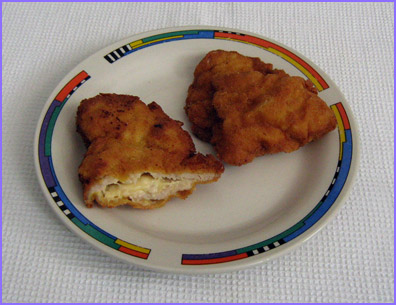 ketogenic diet - schnitzel with cheese